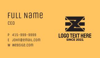 Modern Number 8 Flag Business Card