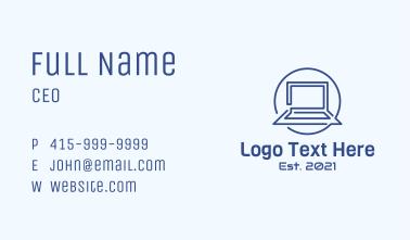 Laptop Line Art Business Card