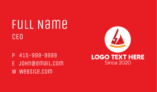 Electric Pizza Restaurant Business Card