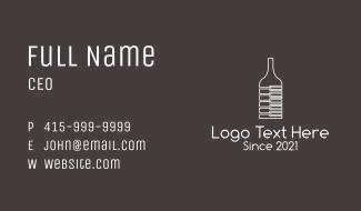 Piano Wine Glass  Business Card