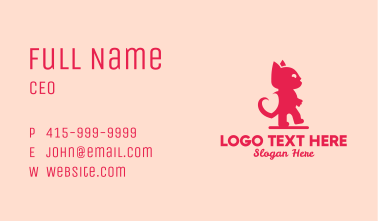 Pink Love Cat  Business Card