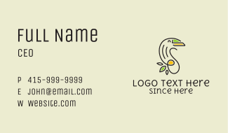 Feminine Eco Toucan Business Card