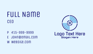 Disc Streaming Signal Business Card