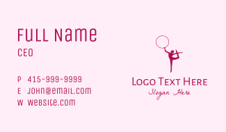 Ring Gymnast Silhouette  Business Card