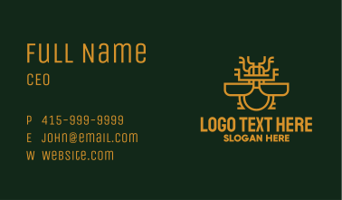 Beetle Insect Monoline Business Card