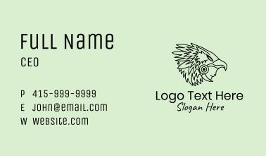 Aztec Eagle Warrior Headdress Business Card