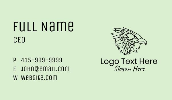 primitive - Aztec Eagle Warrior Headdress Business card horizontal design