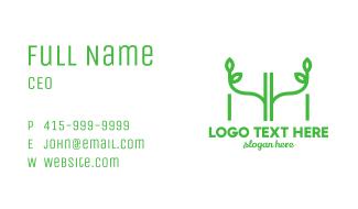 Letter H & H Garden Plant Business Card