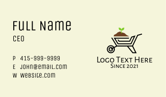 Gardening Wheelbarrow  Business Card