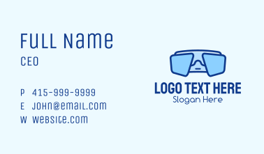 Blue Snorkeling Goggles Business Card