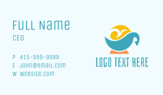 Tropical Coffee Business Card