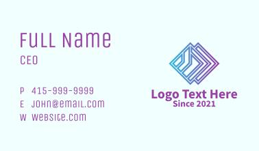Gradient Geometric Diamond  Business Card