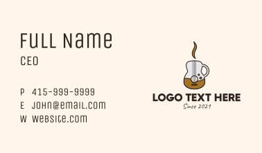 Coffee Guitar Mug Business Card