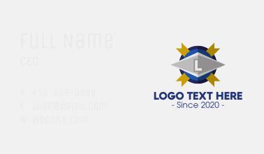 Buckler Shield Lettermark Business Card