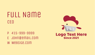 Chicken Poultry Butcher Business Card