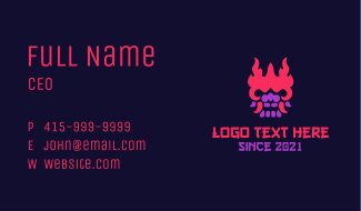 Oni Mask Gaming Business Card