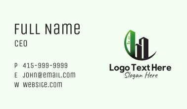Real Estate Tower Building Business Card