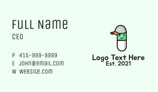 Pill Children Mascot Business Card