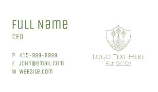 Forest Conservation Emblem Business Card