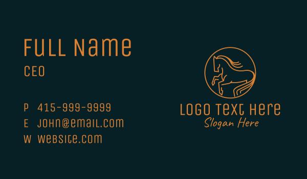 horse racing - Gold Equestrian Emblem Business card horizontal design