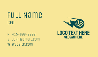 Lightning Volleyball Business Card