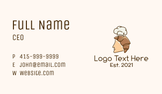 Croissant Man Chef Business Card