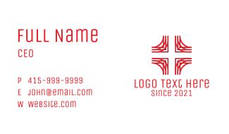 Medical First Aid Cross  Business Card