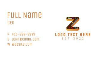 Donut Bakeshop Letter Z Business Card