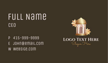 Islamic Eid Lantern Business Card