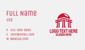 Sun Temple Pillar Business Card