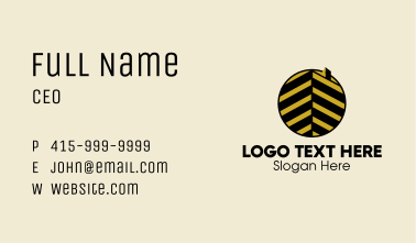 Luxury Building Emblem  Business Card