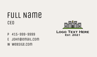 Ancient Castle Fortress Business Card