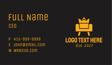 Golden Royal Couch  Business Card