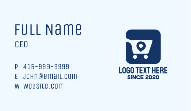 Shopping Cart Location Tag App Business Card