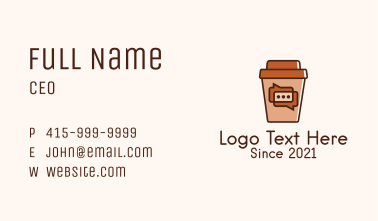 Coffee Shop Chat  Business Card