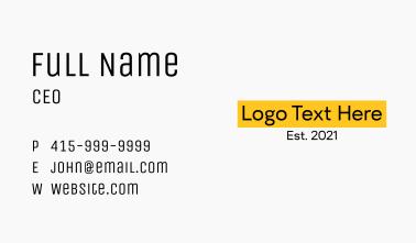 Modern Asian Dollar Store Wordmark Business Card