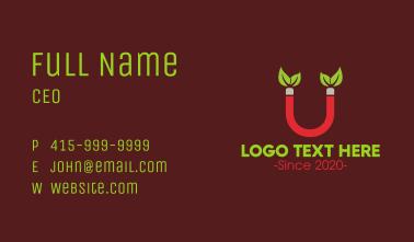 Leaf Magnet Letter U Business Card