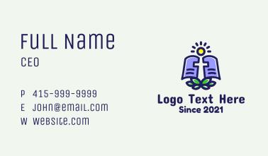 Nature Bible Sun  Business Card