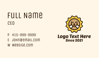 Brown Dog Stamp Business Card