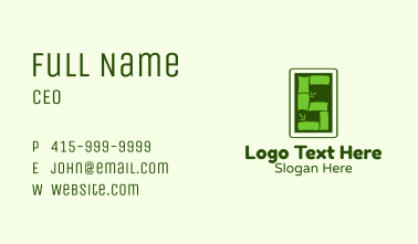 Bamboo Number 5 Business Card