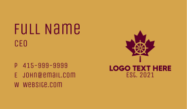 Maple Leaf Helm  Business Card