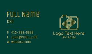 Yellow Maze Digicam Business Card
