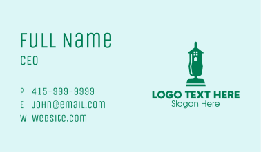 Home Vacuum Cleaner  Business Card
