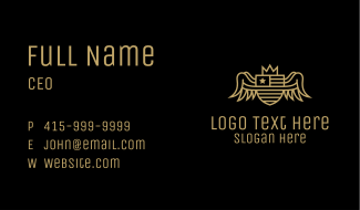 Gold Patriotic Emblem Business Card