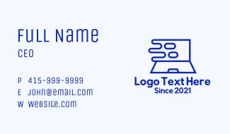 Fast Digital Laptop Business Card