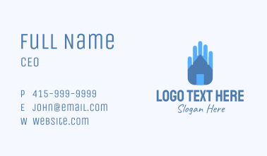 Home Safe Hand Business Card
