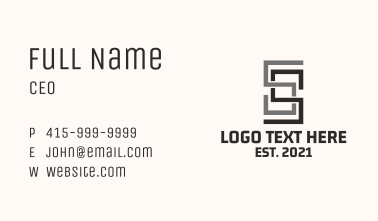 Linear Letter S Business Card