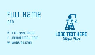 Blue Hand Sanitizer Business Card
