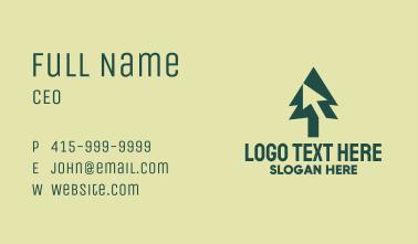 Pine Tree Cursor Business Card