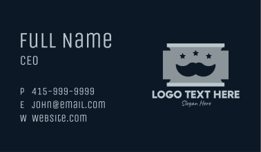 Moustache Shaving Razor Blade Business Card